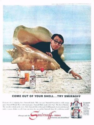 Woody Allen testimonial della Smirnoff America